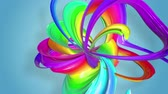 gays : multi-color ribbon is twisted and moves in a circle. Rainbow colored ribbon LGBT symbol animated in motion design with copy space. Looped smooth animation in 4K. Ver 16 Vidéos Libres De Droits