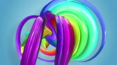 gays : multi-color ribbon is twisted and moves in a circle. Rainbow colored ribbon LGBT symbol animated in motion design with copy space. Looped smooth animation in 4K. Ver 17 Vidéos Libres De Droits
