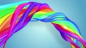 gays : multi-color ribbon is twisted and moves in a circle. Rainbow colored ribbon LGBT symbol animated in motion design with copy space. Looped smooth animation in 4K. Ver 20