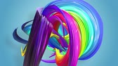 gays : multi-color ribbon is twisted and moves in a circle. Rainbow colored ribbon LGBT symbol animated in motion design with copy space. Looped smooth animation in 4K. Ver 33 Vidéos Libres De Droits