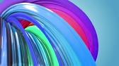 gays : multi-color ribbon is twisted and moves in a circle. Rainbow colored ribbon LGBT symbol animated in motion design with copy space. Looped smooth animation in 4K. Ver 38
