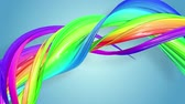 lesbianas : multi-color ribbon is twisted and moves in a circle. Rainbow colored ribbon LGBT symbol animated in motion design with copy space. Looped smooth animation in 4K. Ver 59