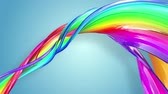 gays : multi-color ribbon is twisted and moves in a circle. Rainbow colored ribbon LGBT symbol animated in motion design with copy space. Looped smooth animation in 4K. Ver 67 Vidéos Libres De Droits