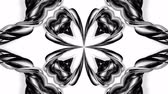 arabesco : 4k loop animation with black and white ribbons are twisted and form complex structures like symmetric ornament pattern or kaleidoscopic effect. Seamless footage with luma matte as alpha channel. 29 Vídeos