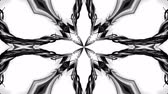 geometrical shapes : 4k loop animation with black and white ribbons are twisted and form complex structures like symmetric ornament pattern or kaleidoscopic effect. Seamless footage with luma matte as alpha channel. 51 Stock Footage