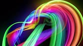 rayonnant : transparent colored lines with a neon glow on a black background. Motion graphics 3d looped background with multicolor colorful rainbow ribbons. Beautiful seamless background in motion design style 19 Vidéos Libres De Droits