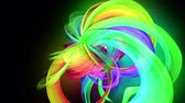 menšina : transparent colored lines with a neon glow on a black background. Motion graphics 3d looped background with multicolor colorful rainbow ribbons. Beautiful seamless background in motion design style 25