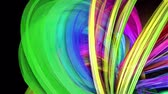 меньшинство : transparent colored lines with a neon glow on a black background. Motion graphics 3d looped background with multicolor colorful rainbow ribbons. Beautiful seamless background in motion design style 29