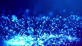 particulier : blue shiny sparkling particles with light rays move in a viscous liquid. It is 4k 3d animation as abstract background for holiday presentations with luminous particles, bokeh and lights effects. V40 Vidéos Libres De Droits