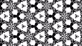 複雑 : 4k seamless looped animation of black and white pattern with ribbons are twisted and formed complex circular structures like symmetric ornament pattern or kaleidoscopic