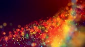 particulier : glitter magic multicolor particles fly and glow in viscous liquid with amazing shining bokeh for fantastic festive background in 4k. Close-up shot with luma matte as alpha channel. 3d render