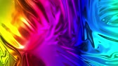 cleanness : Animated rainbow metallic gradient in 4k. Abstract 3D of wavy cloth surface that forms ripples like in liquid metal surface or folds in tissue. Rainbow gradient of foil forms folds in slow motion. 16 Stock Footage