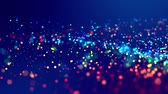 fantasztikus : glitter magic multicolor particles fly and glow in viscous liquid with amazing shining bokeh for fantastic festive background in 4k. Close-up shot with luma matte as alpha channel. 3d render
