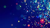 fantasztikus : fantastic festive abstract background of glitter magic multicolor particles fly or float in viscous liquid and glow, amazing shining bokeh in 4k. Luma matte as alpha channel. 7 Stock mozgókép