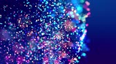 fantasztikus : fantastic festive abstract background of glitter magic multicolor particles fly or float in viscous liquid and glow, amazing shining bokeh in 4k. Luma matte as alpha channel. 9 Stock mozgókép