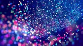 fantasztikus : fantastic festive abstract background of glitter magic multicolor particles fly or float in viscous liquid and glow, amazing shining bokeh in 4k. Luma matte as alpha channel. 10 Stock mozgókép