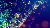 fantasztikus : fantastic festive abstract background of glitter magic multicolor particles fly or float in viscous liquid and glow, amazing shining bokeh in 4k. Luma matte as alpha channel. 13