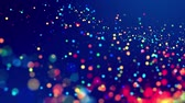 fantasztikus : fantastic festive abstract background of glitter magic multicolor particles fly or float in viscous liquid and glow, amazing shining bokeh in 4k. Luma matte as alpha channel. 20 Stock mozgókép