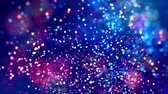 fantasztikus : fantastic festive abstract background of glitter magic multicolor particles fly or float in viscous liquid and glow, amazing shining bokeh in 4k. Luma matte as alpha channel. 25