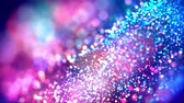 particulier : fantastic festive abstract background of glitter magic multicolor particles fly or float in viscous liquid and glow, amazing shining bokeh in 4k. Luma matte as alpha channel. 26