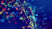 fantasztikus : fantastic festive abstract background of glitter magic multicolor particles fly or float in viscous liquid and glow, amazing shining bokeh in 4k. Luma matte as alpha channel. 35 Stock mozgókép