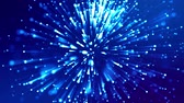 fantasztikus : blue shiny sparkling particles with light rays move in a viscous liquid. It is 4k 3d animation as abstract background for holiday presentations with luminous particles, bokeh and lights effects. V22