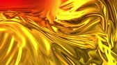 metalic : Animated metalic gradient in 4k. 3D render of wavy cloth surface that forms ripples like in liquid metal surface or folds in tissue. Red yellow gradient of foil forms folds in slow motion. 18 Stock Footage