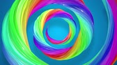 corante : abstract background with rainbow color stripes that moving in a spiral and shiny on blue background in 4k. 3d seamless looped animation. Use luma matte as alpha chanel to cut out rainbow structure.