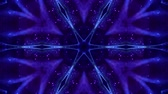 küme : 4k looped sci-fi 3d background with glow blue particles form lines, surfaces, complex symmetrical structures like star in kaleidoscope. Abstract theme of microworld or nanotechnology 16