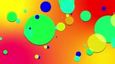 sobreposição : simple abstract 4k looped flat style background with circles change their size, overlap each other, red yellow orange gradient background. Minimalist design. Luma matte as alpha channel 5