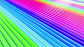 Abstract 3d seamless bright rainbow colors background in 4k. Multicolored gradient stripes move cyclically in simple cartoon creative style. Looped smooth animation in 4k. Stock mozgókép
