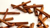 meal : fine spices sticks of dry cinnamon as part of aromatic flavoring food