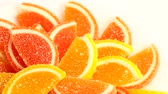 orange jelly : vitamin marmadade as a lovely sweet dessert for tea Stock Footage