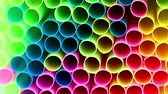 sanitário : the neatly stacked multi-colored plastic pipes