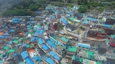 telhado : Aerial View of Gamcheon Culture Village, Sahagu, Busan, South Korea, Asia when Apr-29-2018 Vídeos