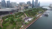 riverside : Spring of Naru Park at Centum City, Haeundae, Busan, South Korea, Asia Stock Footage