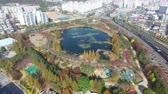 шины : Aerial View of Yeonji Park, Gimhae, Gyeongsangnamdo, South Korea Asia