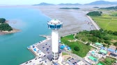 Aerial View of Chilsan Tower, Yeonggwang, Jeollanamdo, South Korea, Asia