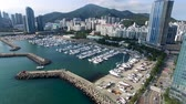 マリーナ : Aerial View of Haeundae Suyeong Bay Yachting Center, Busan, South Korea, Asia