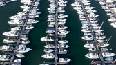 マリーナ : Aerial View of Haeundae Suyeong Bay Yachting Center, Busan, South Korea, Asia.