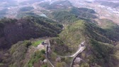 koera : Aerival View of Geumseong Mountain Fortress, Damyang, Jeonnam, South Korea, Asia. Stock Footage