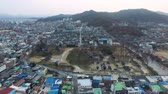 한국의 : Aerial View of Gyeonggijeon in Jeonju Hanok Village Traditional Korean Town, Jeonju, Jeonbuk, South Korea, Asia 무비클립