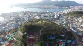한국의 : Aerial View of Seopirang Pavilion of Tongyeong, Gyeongnam, South Korea, Asia.