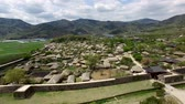 koera : Aerial View of Nakan Eupseong Fortress, Suncheon, Jeonnam, South Korea, Asia. Stock Footage