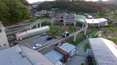 monorail : Aerial View of Suncheonman Bay National Garden, Suncheon, Jeonnam, South Korea, Asia. Stock Footage