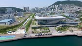 한국의 : Aerial View of Yeongdo Island, Busan, South Korea, Asia 무비클립