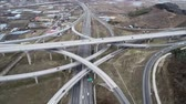 teherautó : Hyperlapse Aerial View of Highway Traffic of Daegam JC, Gimhae, Gyeongnam, South Korea, Asia.