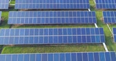 Aerial view of solar energy panels, solar panels, Solar power plants.