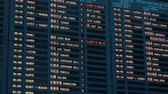 várakozás : Shanghai, China - February 22, 2019: Schedule board displaying flight information in the departure hall of Shanghai Pudong International Airport.