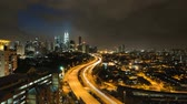 view : Time lapse of busy light trail traffic of Kuala Lumpur,Malaysia Stock Footage